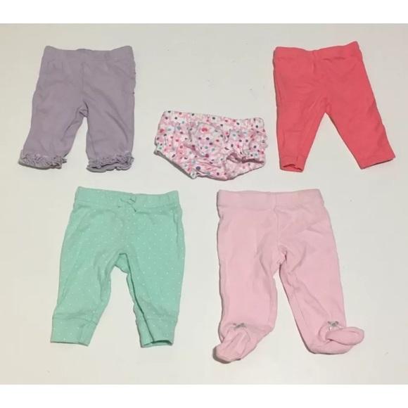 Bottoms Newborn Baby Girls Clothing Lot 5 Piece Carters Poshmark